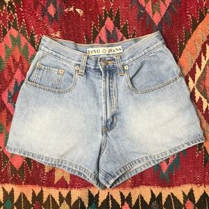 Vintage high rise 1990s mom jean shorts 🌻